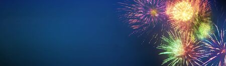 stars and lights pattern of bright sparkling colorful fireworks with motion textures and circle shapes, banner 版權商用圖片
