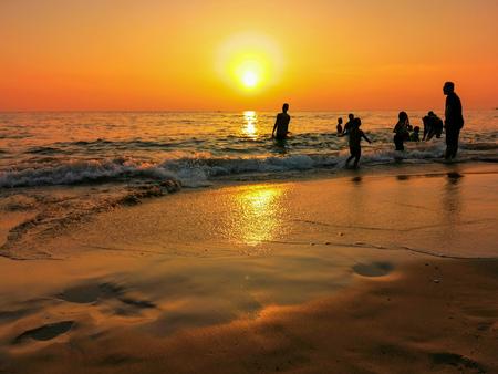 Silhouette PD Beach Standard-Bild