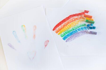 Colors that represent the pride flag