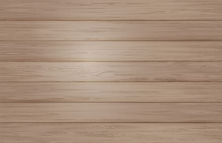 boarded: Light brown wooden planks realistic texture background. Vector template.
