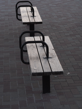 with no one: no one is in the bench