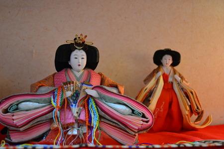 ひな祭りの日本の人形 写真素材