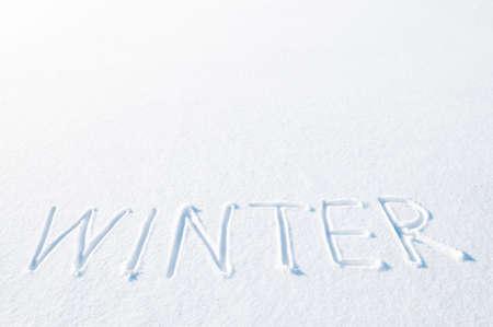 Winter written in snow.