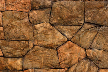 Close up of an old stone wall Stock Photo
