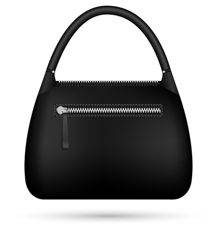 Black woman bag isolated on white background Vector