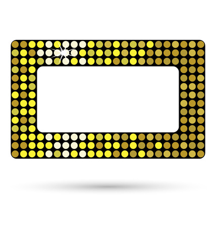 belt buckle: Golden framework or belt buckle isolated on white background
