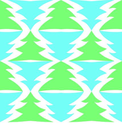 тундра: Бесшовные разноцветных ели, изолированных на белом фоне