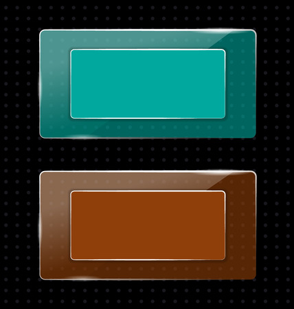 pellucid: Two glassy multicolored transparent frames on black background in points