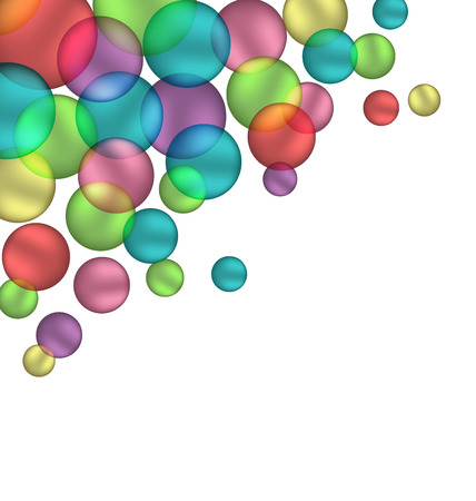 bleb: Multicolored bubbles isolated on white background Stock Photo