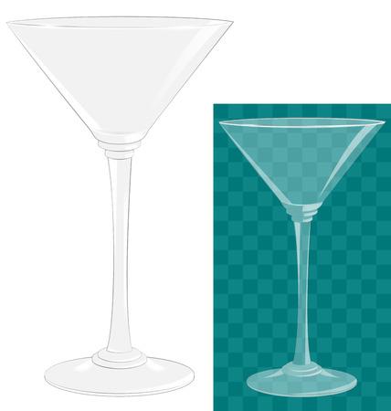 Transparent isolated martini glass photo