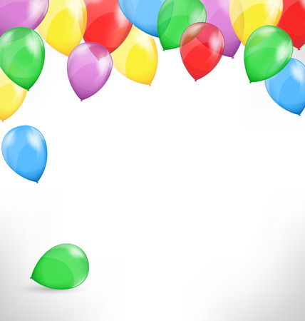 party background: Multicolored inflatable air balls on grayscale background