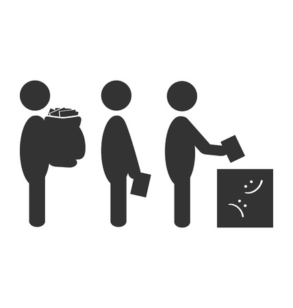 electorate: Flat box offer icon isolated on white background