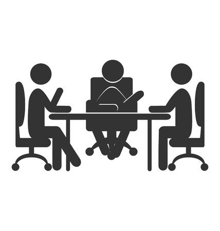 Flat icône de communication de bureau isolé sur fond blanc