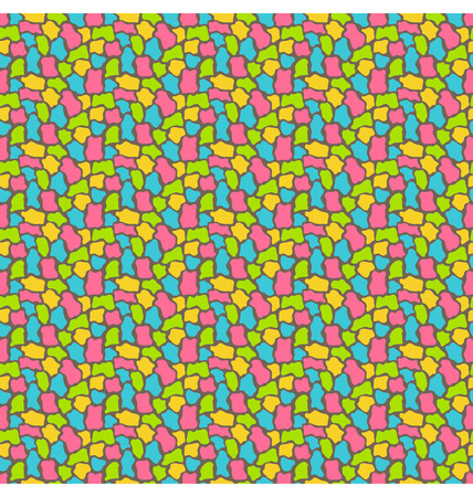 uneven: Bright fun abstract seamless pattern with uneven spots Illustration