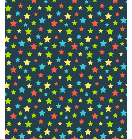 Seamless bright abstract pattern  with stars isolated on blue background Vector
