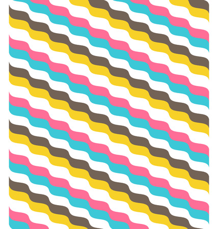 fun: Seamless bright fun abstract wave pattern