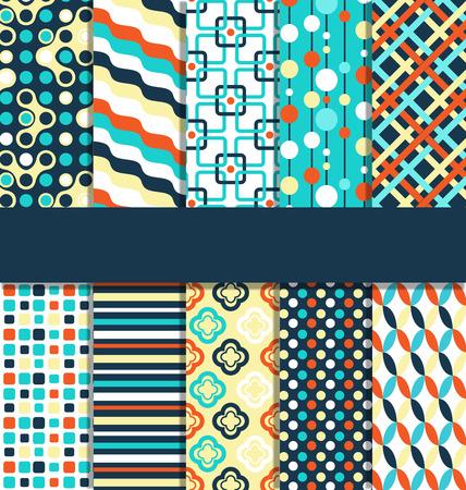 contraste: Seamless geom�trica contraste brillante patrones abstractos