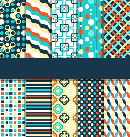 paper: Seamless geometric bright contrast abstract patterns