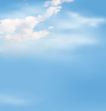 open day: White clouds in the sky on blue background Stock Photo