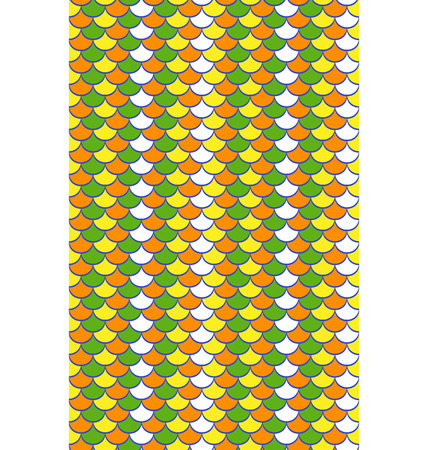 bright: Seamless bright abstract scale pattern Illustration