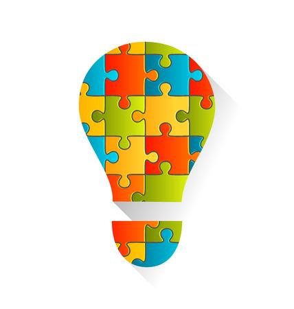 study group: Idea Lamp Jigsaw Puzzle Background