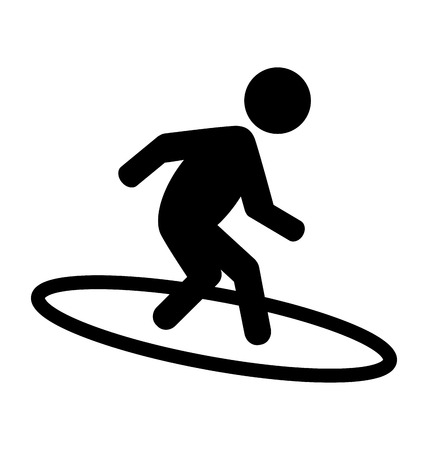 water sport: Summer Water Sport Surfing Pictogram