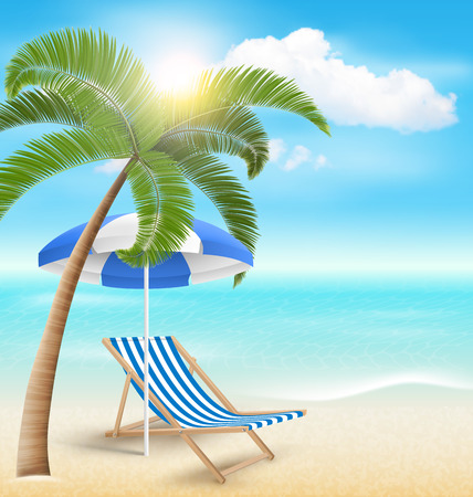 greet card: Summer Vacation Background