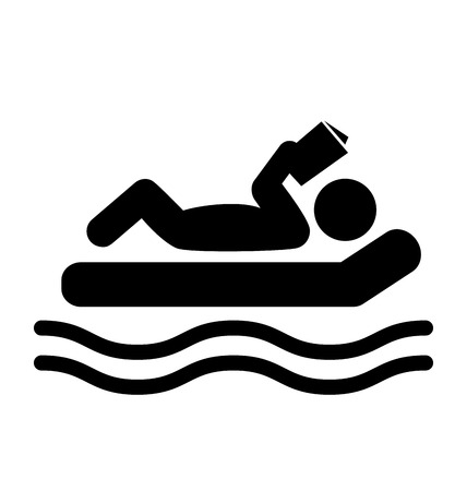 bookish: Summer Relax Swim Pictogram  Illustration