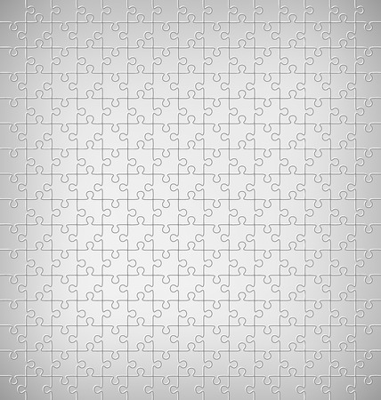 Jigsaw Puzzle Pattern on Grayscale Background Imagens