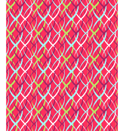 pigtail: Seamless Bright Fun Abstract Vertical Pigtail Pattern Illustration