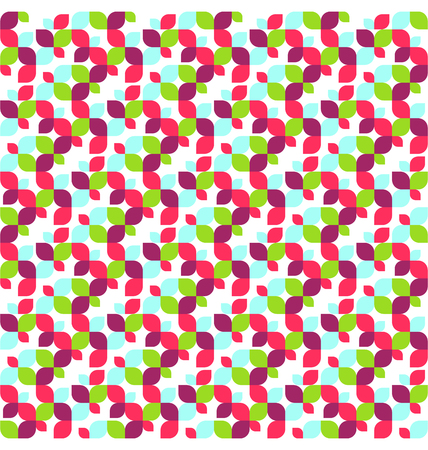 leafs: Seamless Bright Fun Abstract Leafs Pattern Illustration
