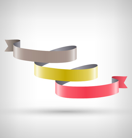 curved ribbon: Infographic Element Curved Ribbon on Grayscale Background