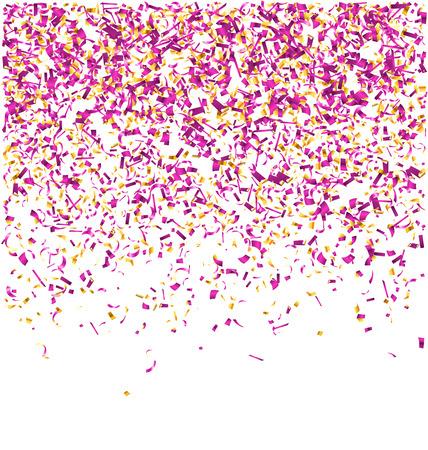 festive background: Festive Celebration Violet Confetti Isolated on White Background