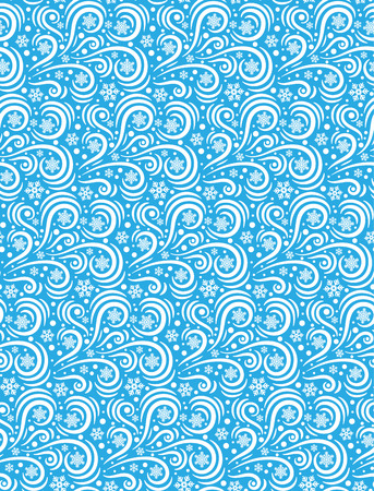 blizzard: Seamless Pattern Blizzard Ornament Isolated on Blue Background