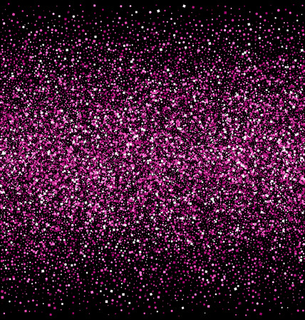 pink and black: Pink Glitter Isolated on Black Background Illustration