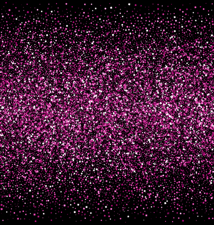 pink and black: Pink Glitter Isolated on Black Background Stock Photo