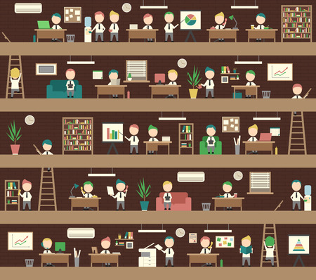 briefing: Seamless Background Office Concept Coworking Space People Management
