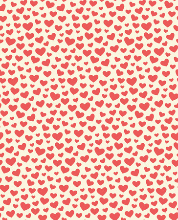 Seamless Festive Love Abstract Pattern with Hearts on White Background