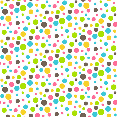 chaos: Seamless Bright Fun Abstract Dots Chaos Pattern