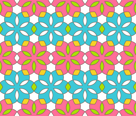 Bright Fun Abstract Spring Ornament Pattern Ilustração