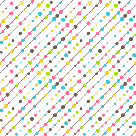 Seamless Fun Abstract Diagonal Pattern Isolated on White Background Imagens