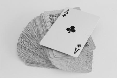 texas hold em: As en la baraja de cartas Foto de archivo