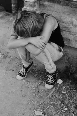 Ein M�dchen, Teenager in der Flaute