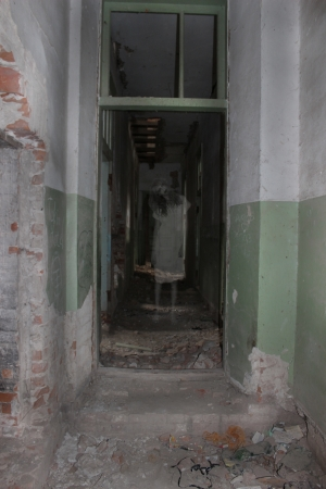 Ghost in the walls of old buildings photo