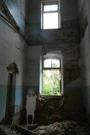 Ghost in the dark walls of old buildings  Copyright - no  Stock Photo