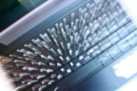 Black laptop keyboard Stock Photo - 14684419