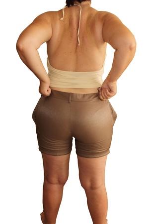 a fat woman can not wear shor
