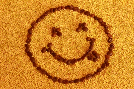 millet: smiley on millet