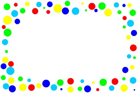 background of colored circles Stock Photo
