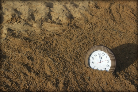 12 o'clock: sands of time Stock Photo